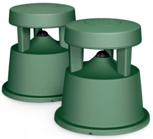 Another less intrusive pair of speakers for outdoor use