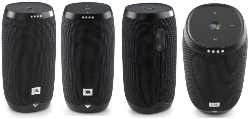 The many views of the JBL Link 10 speaker