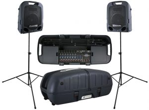 A very capable portable system here by Peavey
