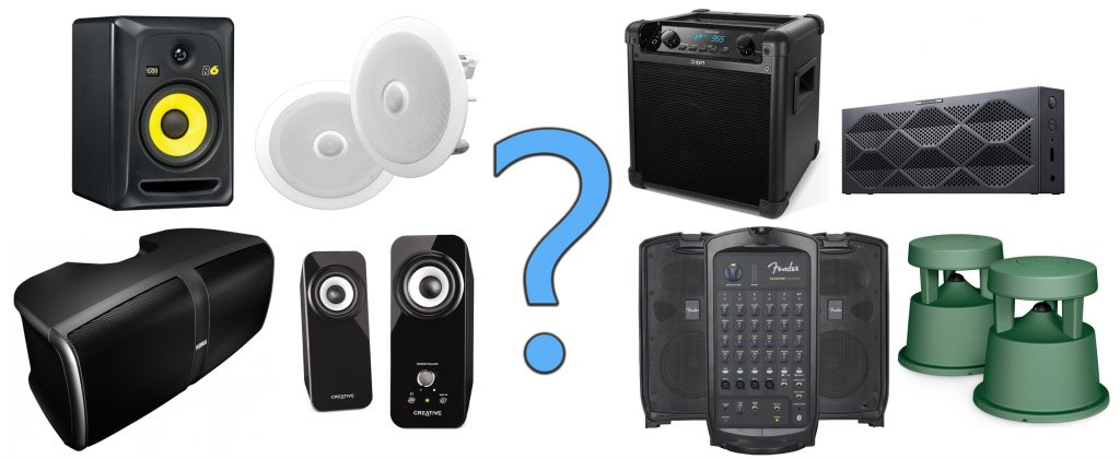 We explain the different speaker types